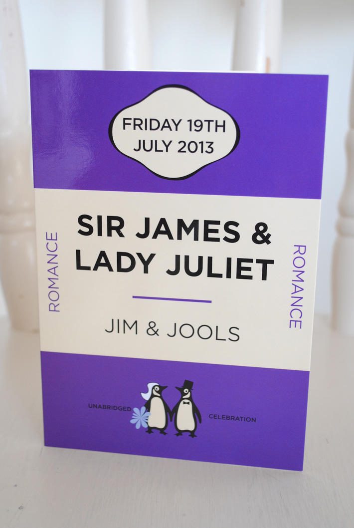 classic book cover wedding invites