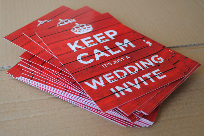 keep calm and carry on wedding invites