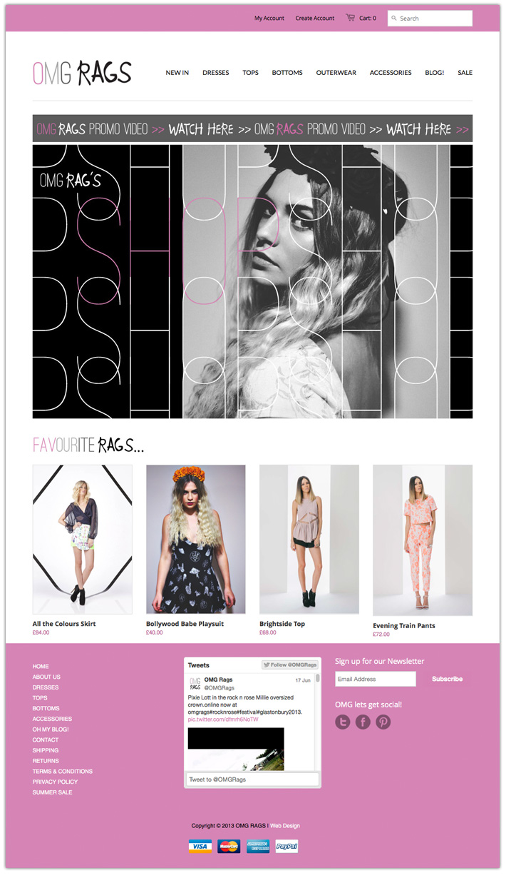 Design Clothing Websites Omg clothing store