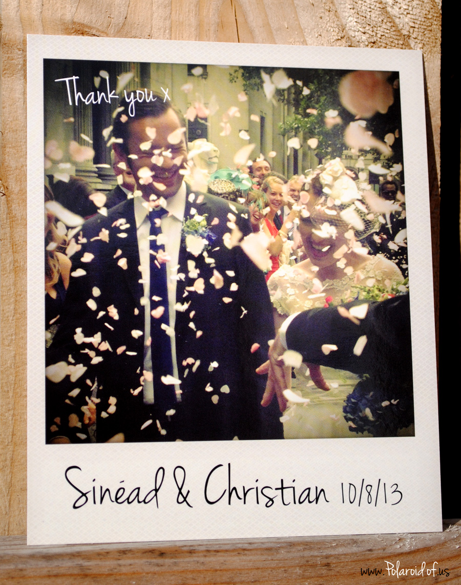 Retro Polaroid Wedding Invite