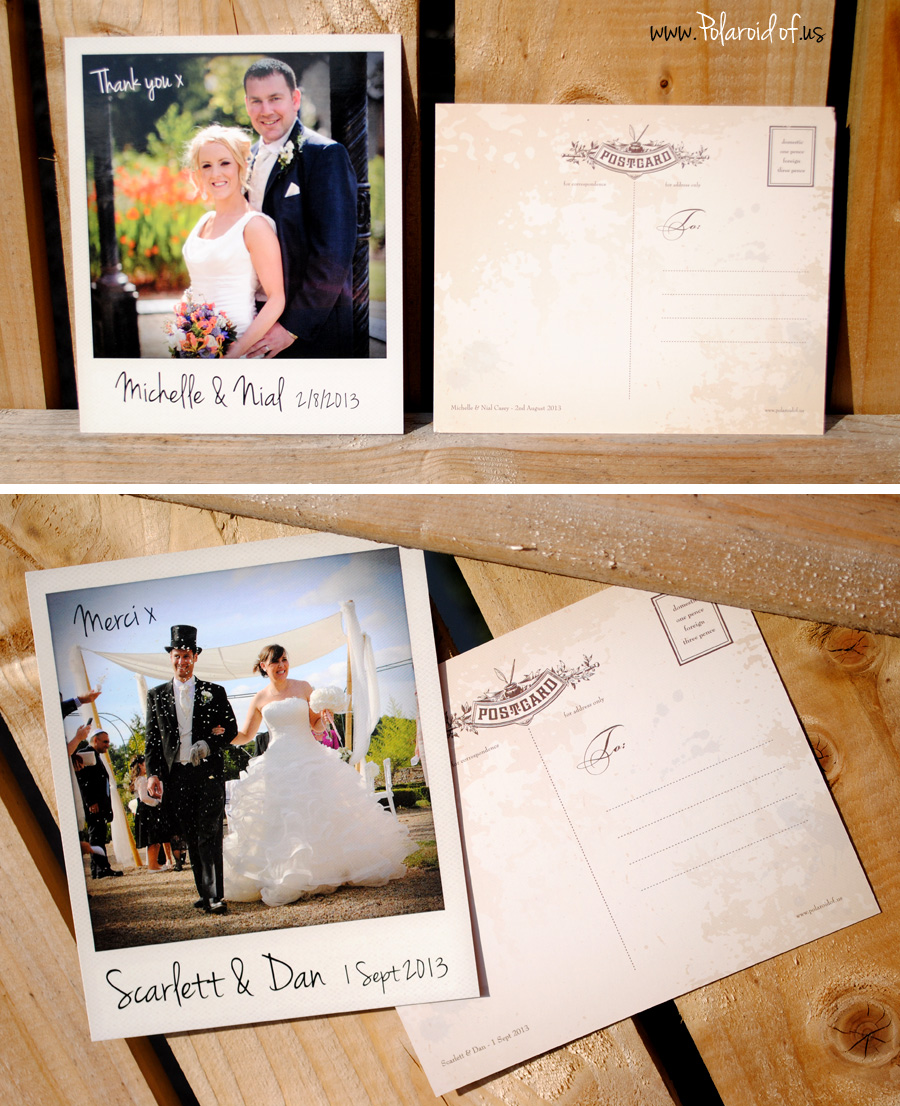 polaroid wedding cards
