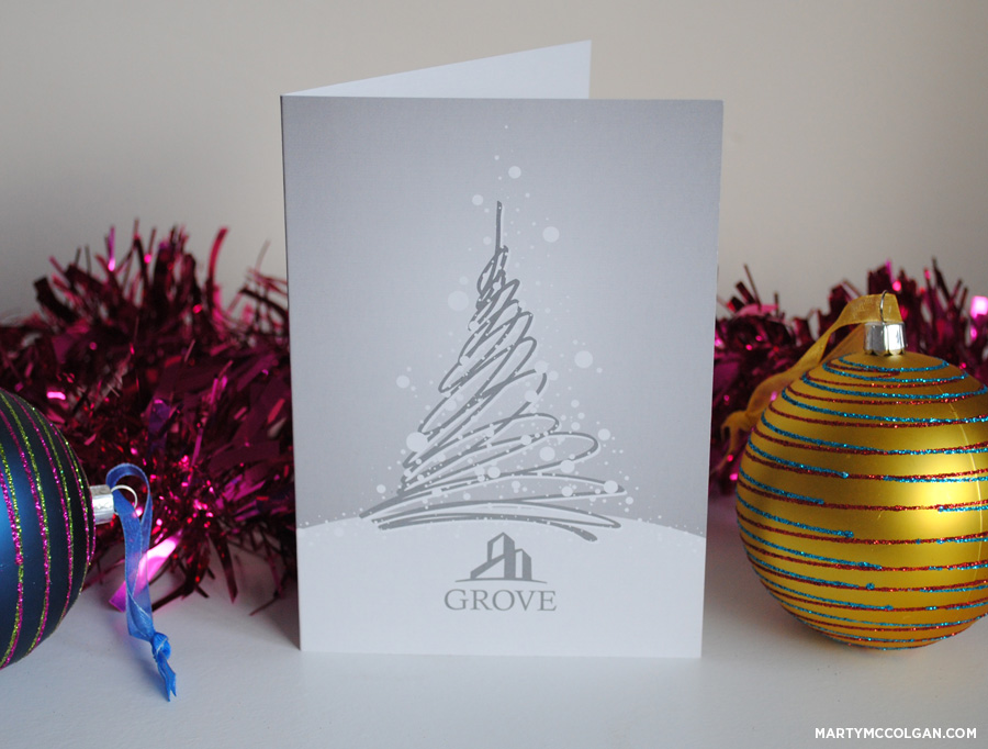 personalised business christmas cards