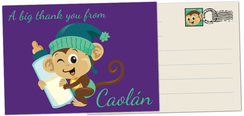 Baby Thank You Cards | Graphic Design Belfast