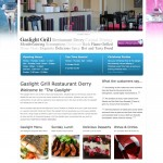 Gaslight Grill Restaurant Derry, Web Design Derry, Northern Ireland