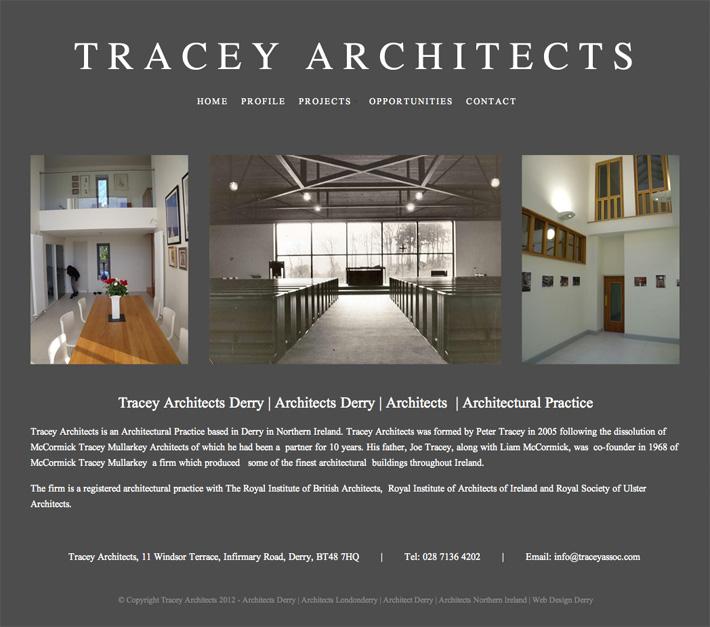 Tracey Architects Website Design Derry Northern Ireland
