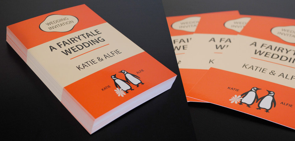 Penguin Books Wedding Invitations | Wedding Invitations Northen Ireland