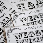 black-and-white-vintage-poster-style-wedding-invitations