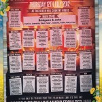 festival themed wedding table and seating plan | music festival theme weddings