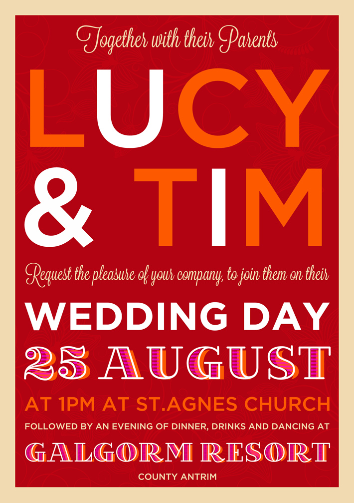 unique-wedding-invitations-belfast | Marty McColgan Graphic and Web ...