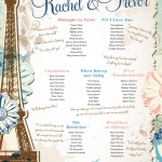 vintage-chic-paris-theme-wedding-table-plan