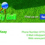 party golf business card copy