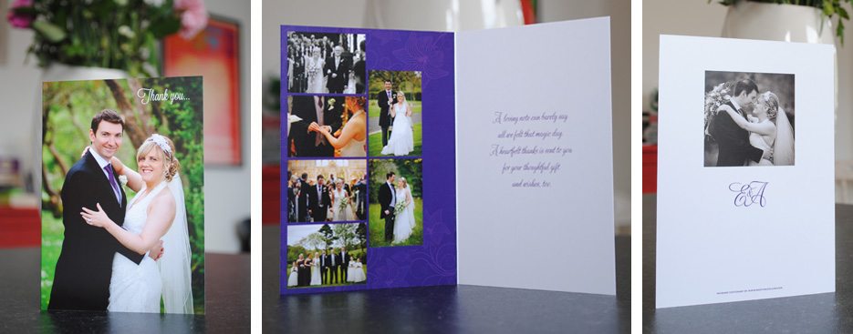 wedding thank you cards uk & Ireland