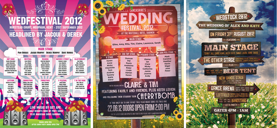 music festival posters wedding stationery | marty mccolgan