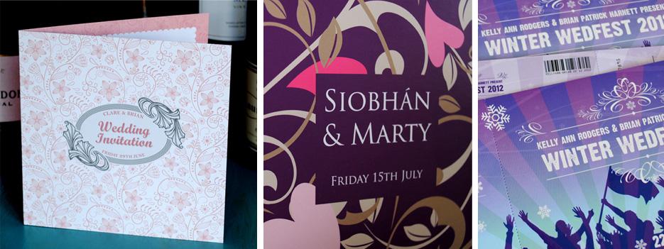 unique unusual wedding invitation design | marty mccolgan