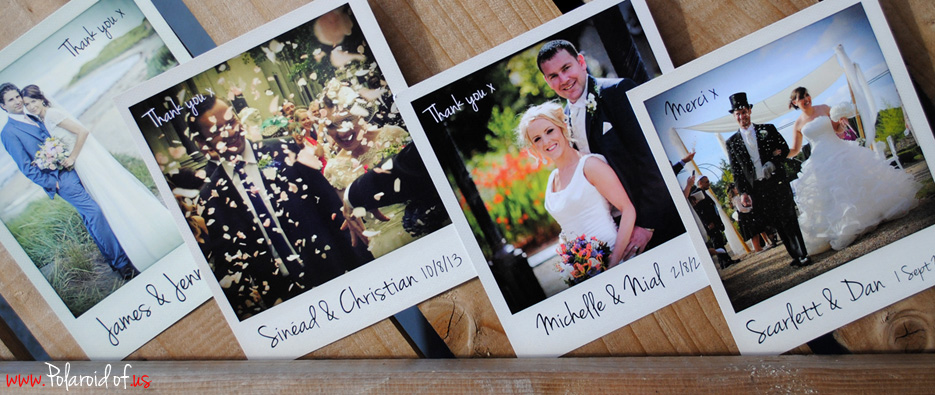 polaroid of us wedding cards